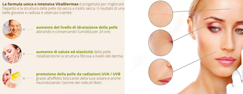 Funzionamento di Vitaldermax antirughe