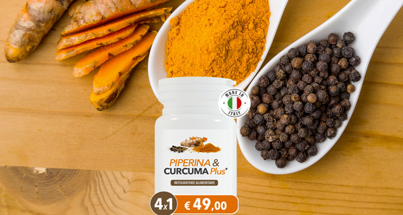 Piperina e Curcuma Plus integratore dimagrante