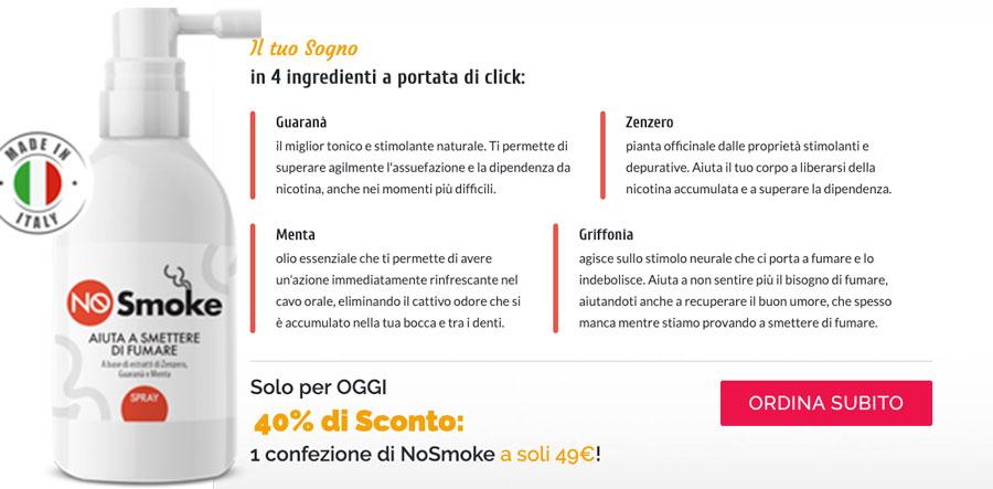 Ingredienti di NoSmoke Spray