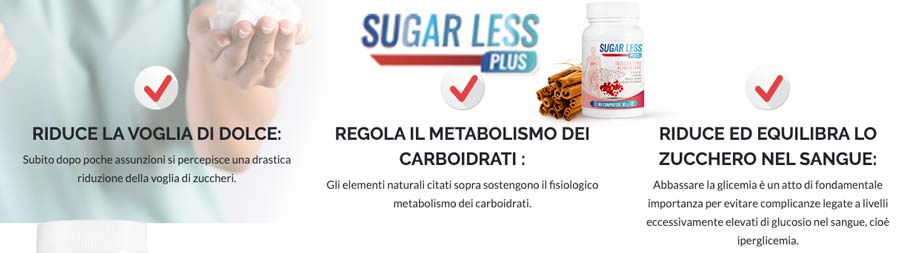 Come agisce Sugar Less plus