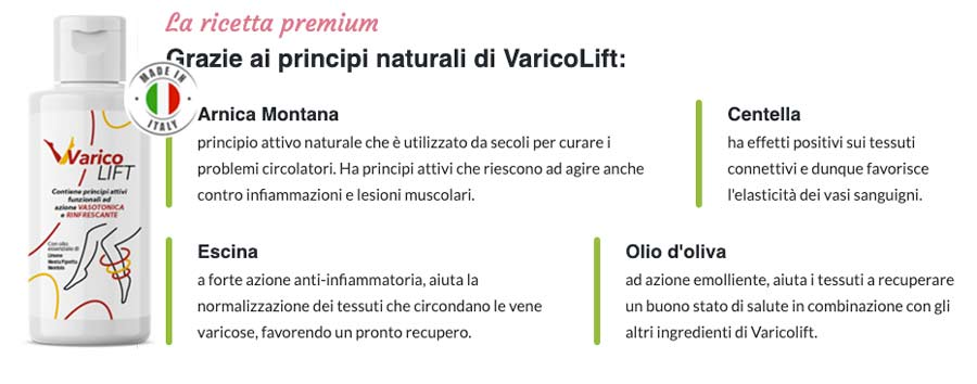 Come funziona la crema Varicolift