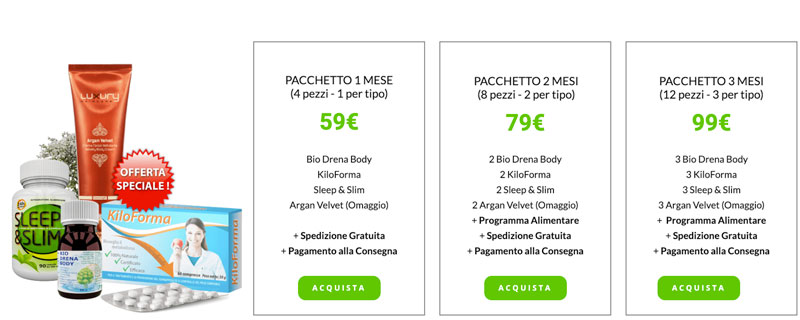 prezzo di Total Slim Program
