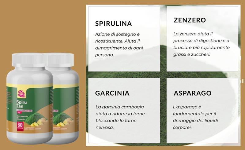 Ingredienti di Spiruzen