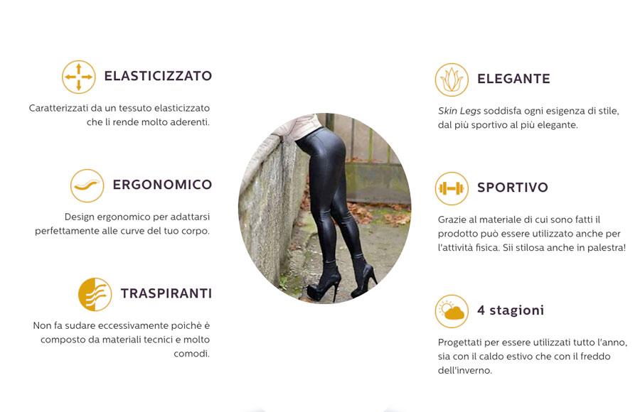 Caratteristiche di Skin Legs