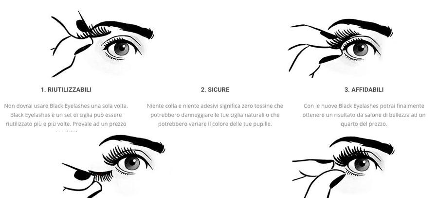 Caratteristiche di Black Eyelashes
