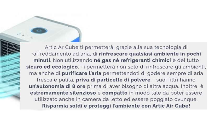 come funziona Artic Air Cube